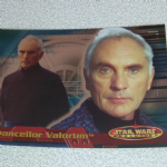 Star Wars Evolution topps 2001 Chancellor Valorum Foil card